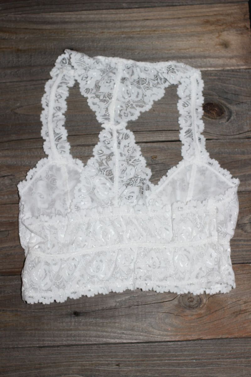 Signature 8-Lace Bralette-White