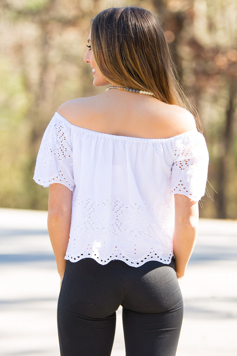 Smell The Roses-Camila Top-White