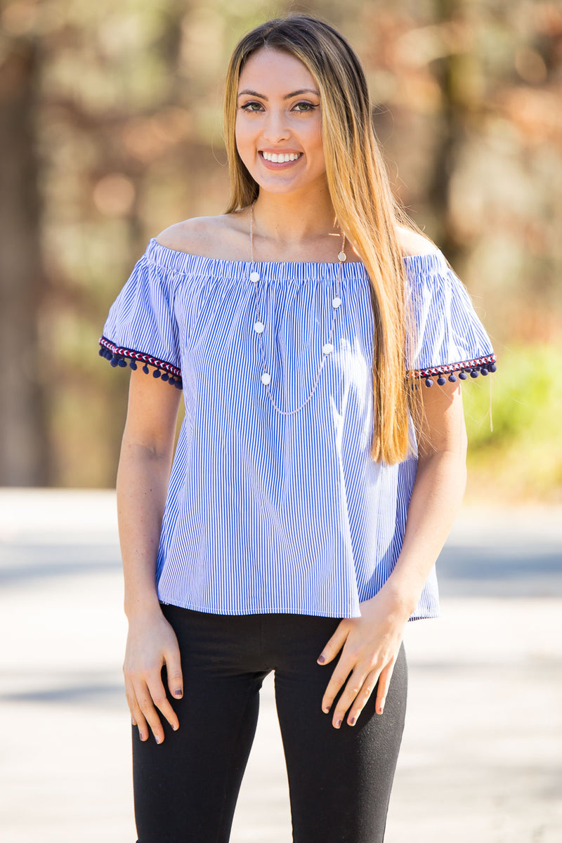 Positively Preppy Top-Denim
