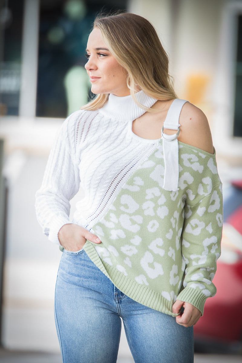 Classically Chic Sweater - Sage