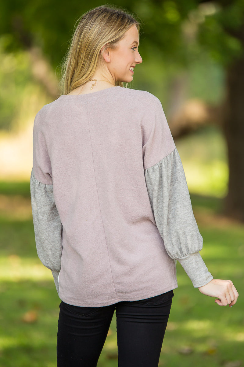 Just Like A Dream Top-Misty Pink