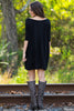 The Perfect Piko Half Sleeve Tunic-Black - Simply Dixie Boutique  - 2