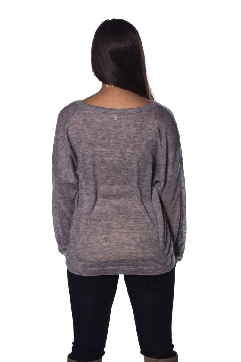 Piko Dolman Thin Sweater-Grey