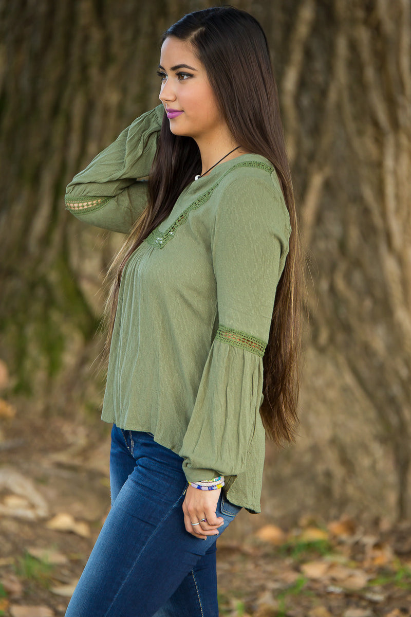 SALE- I See You Top-Olive