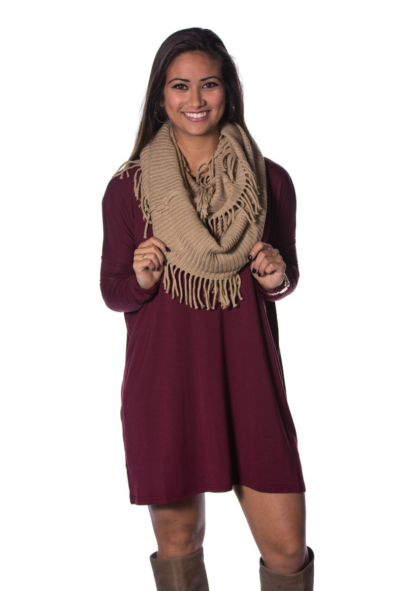 The Perfect Piko Tunic Top-Plum