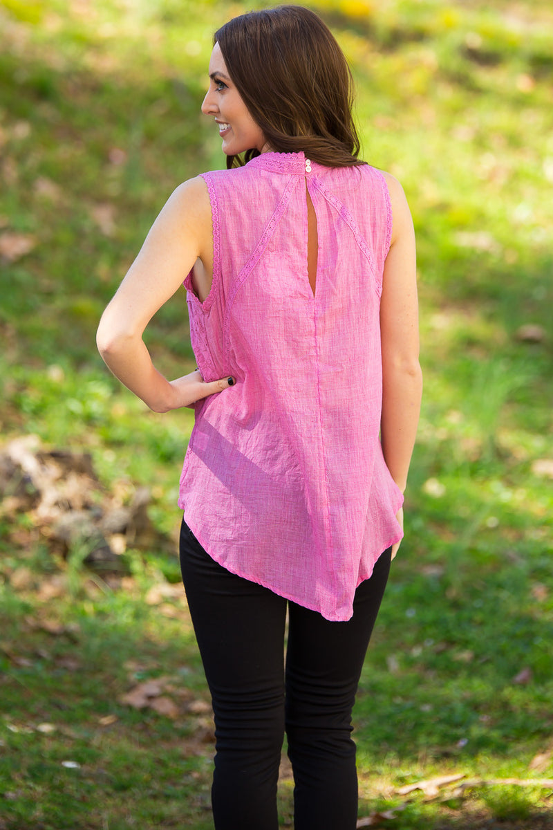 Sweet And Simple Top-Pink