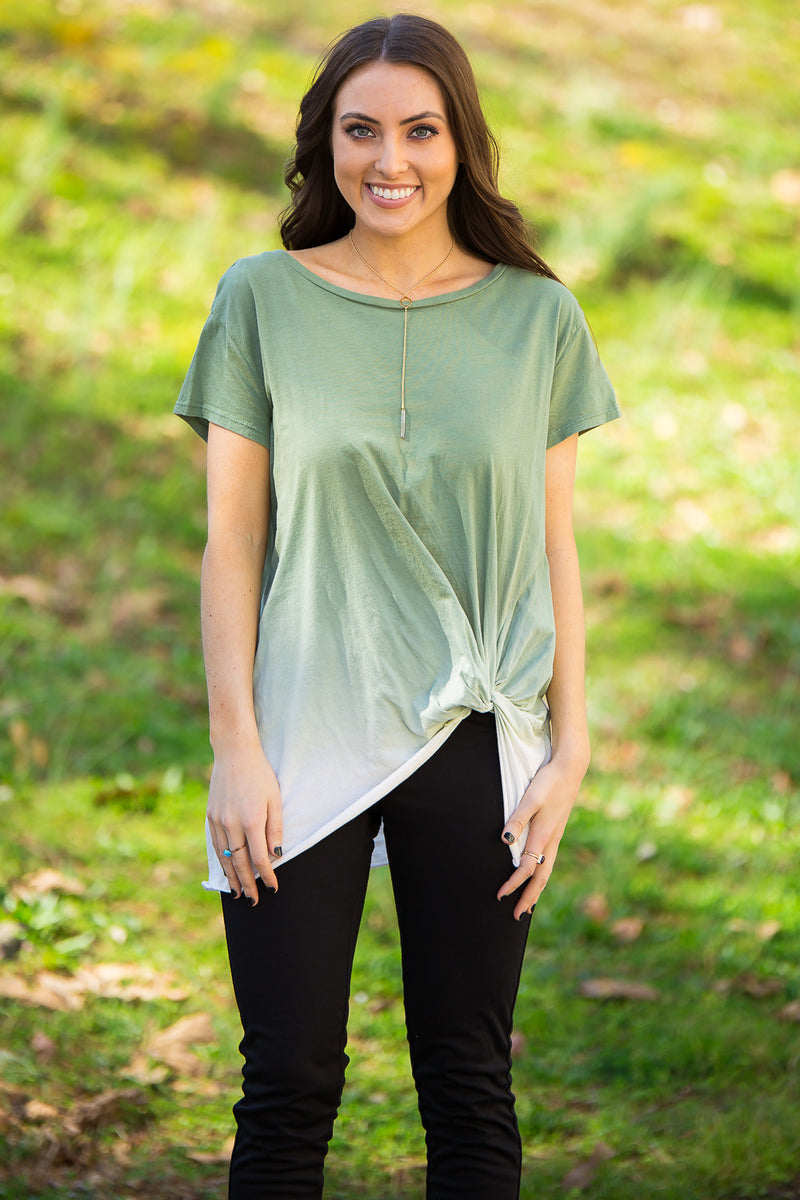 Faded Out Top-Olive