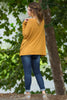 The Perfect Piko Top-Dark Mustard