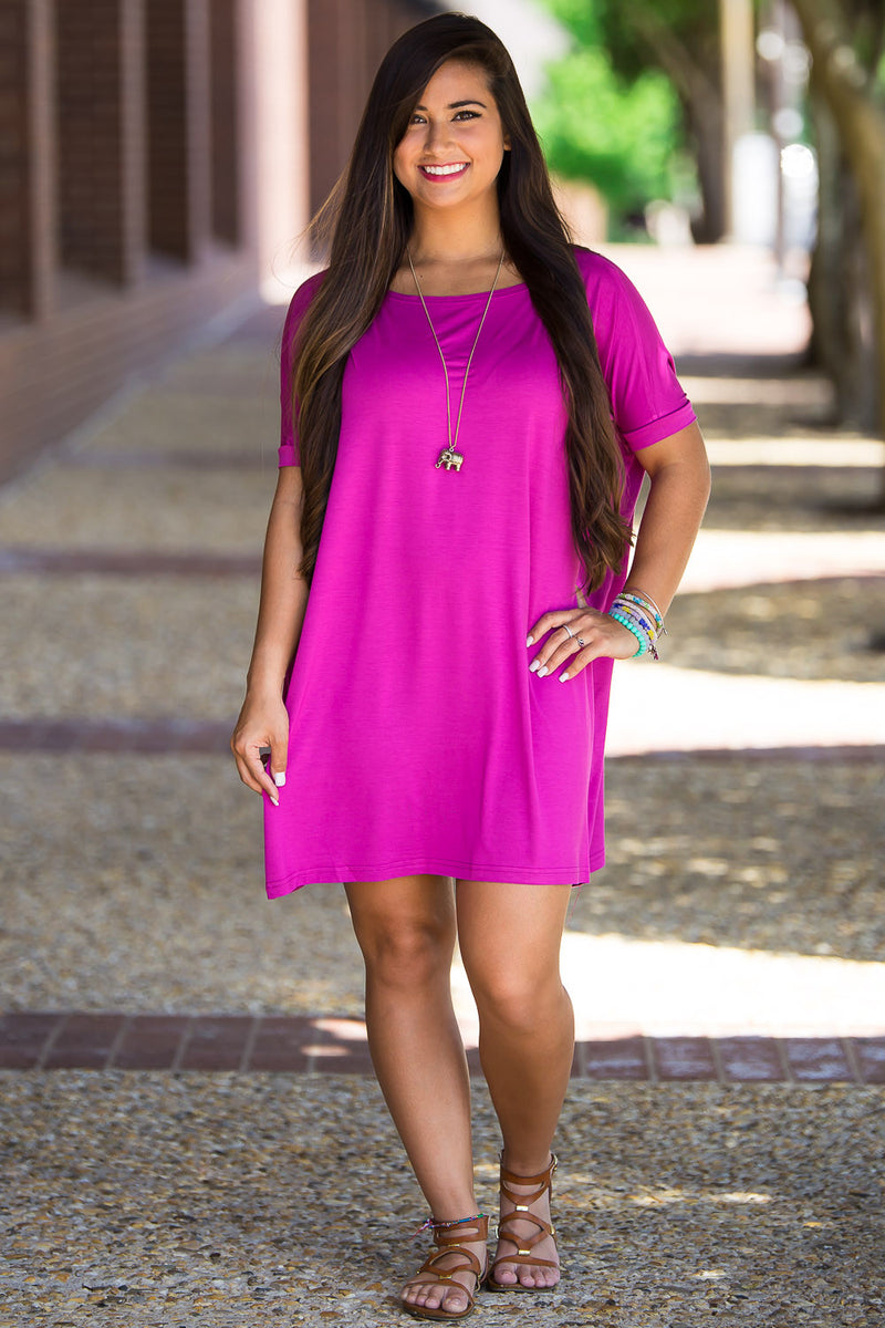 The Perfect Piko Short Sleeve Tunic-Orchid