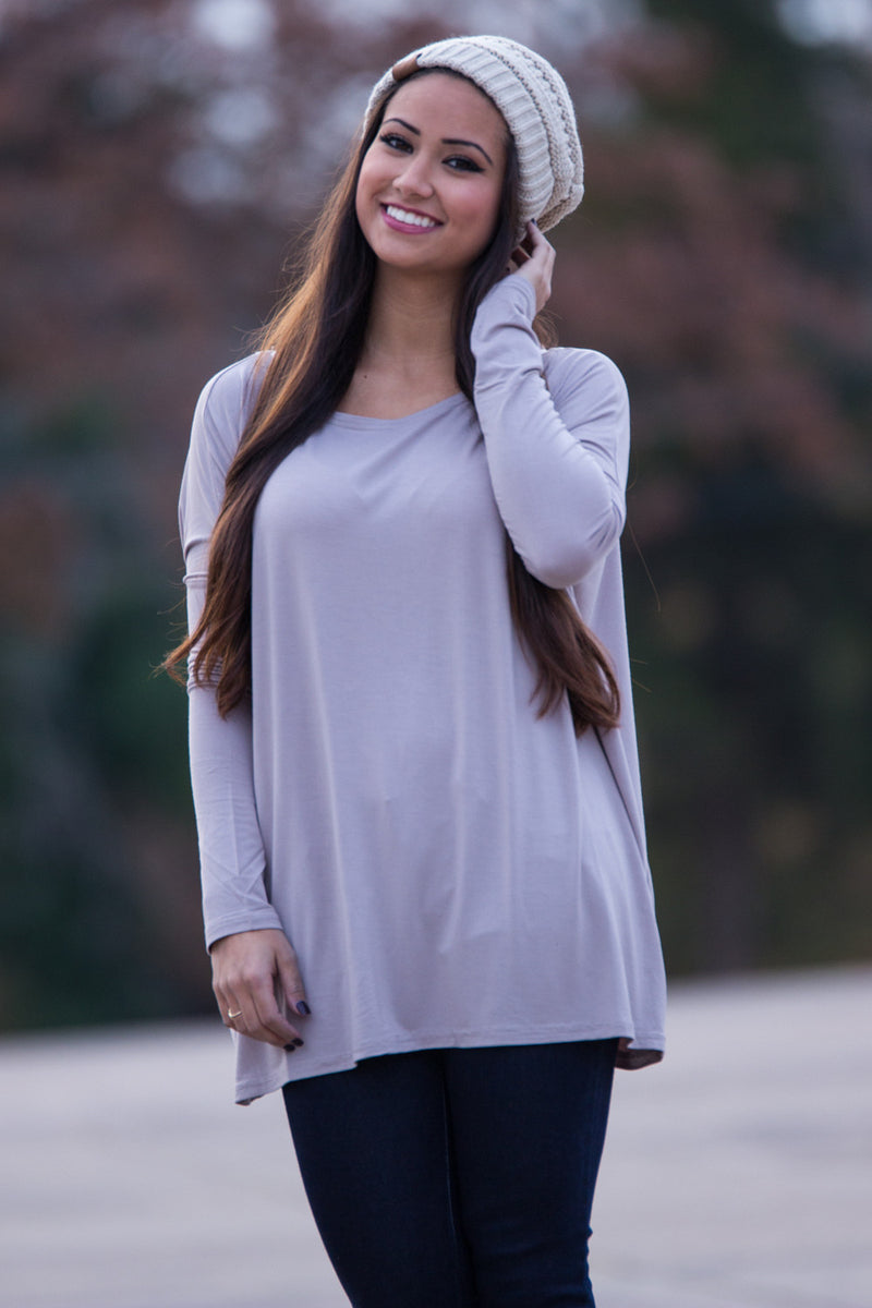The Perfect Piko Top-Light Brown