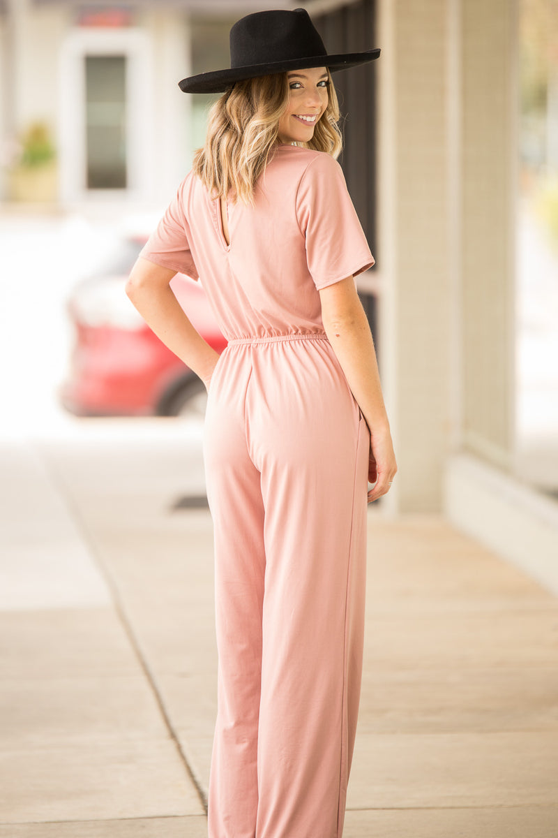 Down To Party Jumpsuit - Rosewood