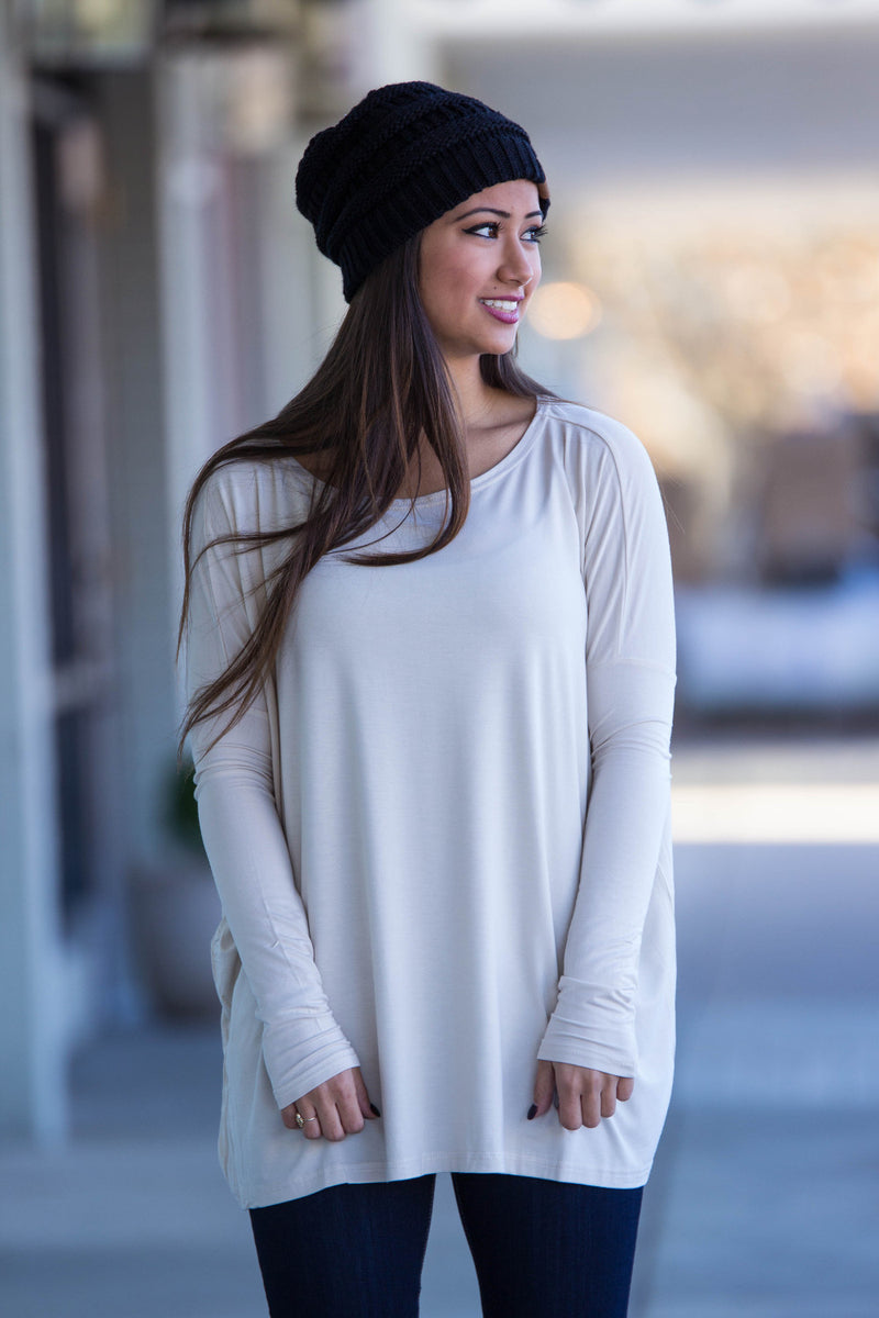 The Perfect Piko Top-Beige