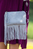Triple 7 Global-Fringe Clutch-Grey