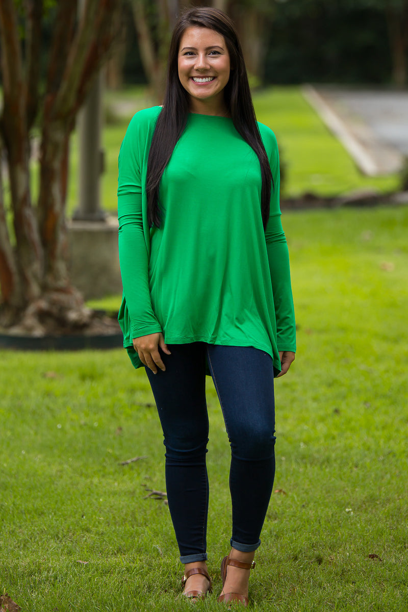 The Perfect Piko Top-Kelly Green