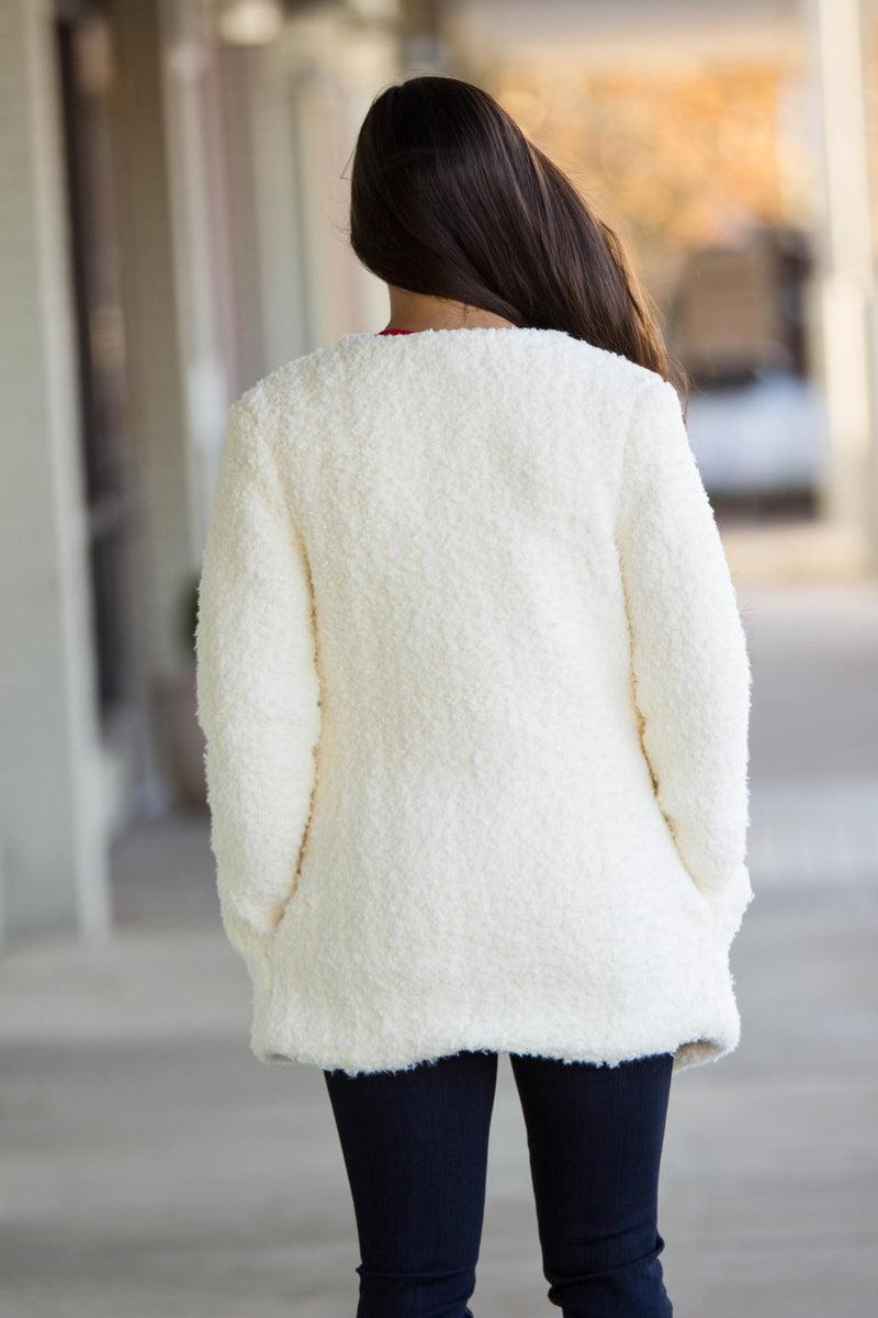 The Perfect Piko Faux Fur Jacket-Off White