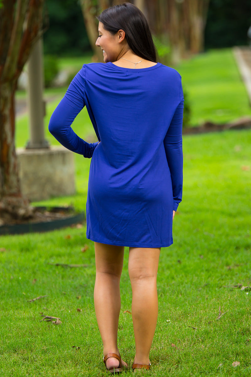 The Perfect Piko Slim Fit Top-Violet