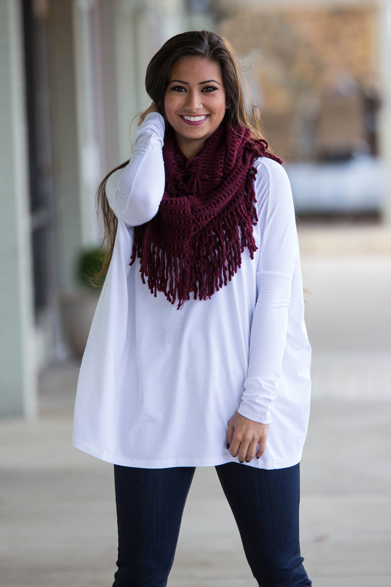 The Perfect Piko Top-White