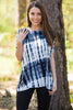 The Perfect Piko Short Sleeve Top-Tie Dye Black