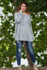 The Perfect Piko Top-Heather Grey - Simply Dixie Boutique  - 1