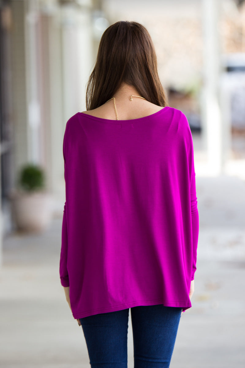 The Perfect Piko Top-Bright Fuchsia