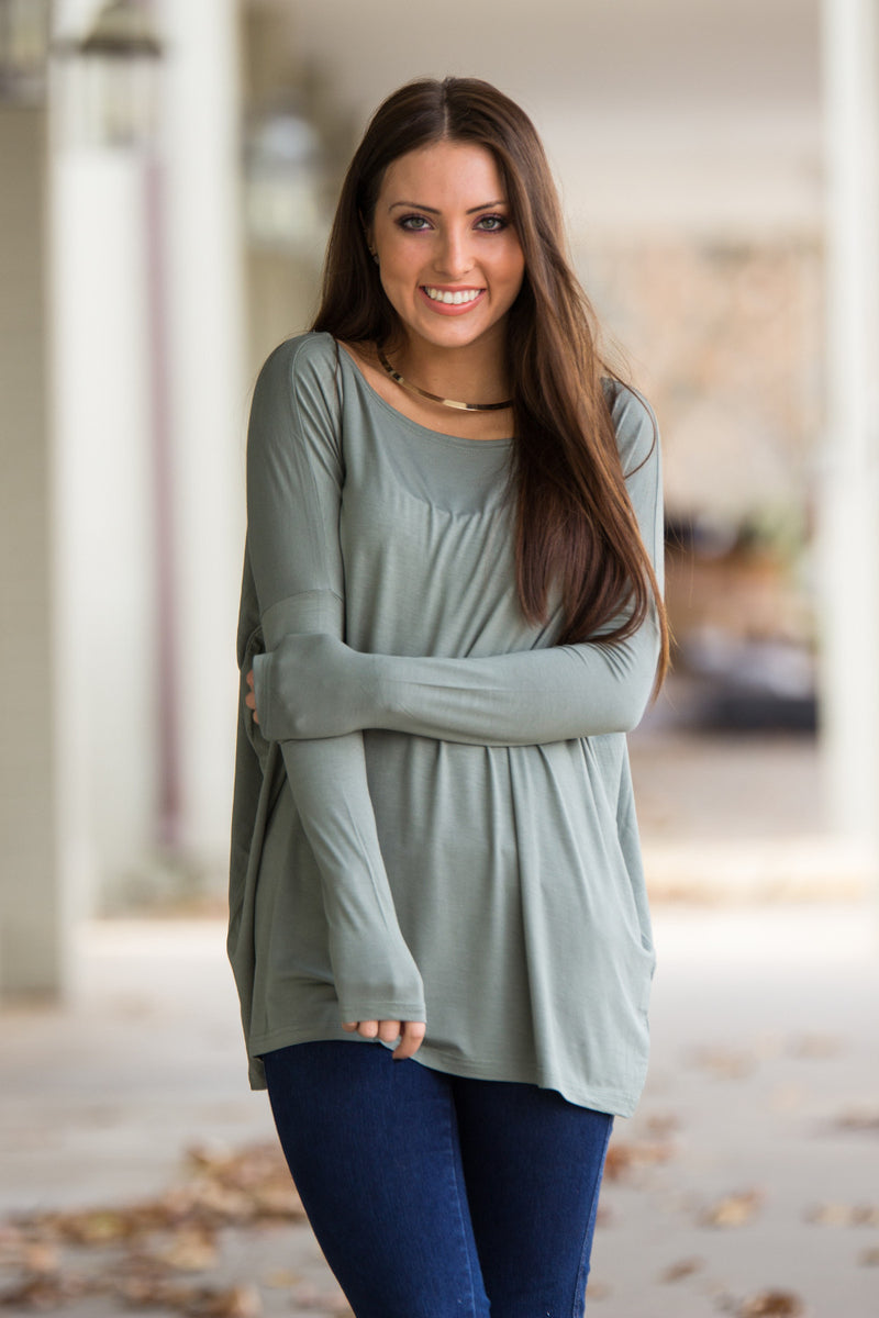 The Perfect Piko Top-Olive