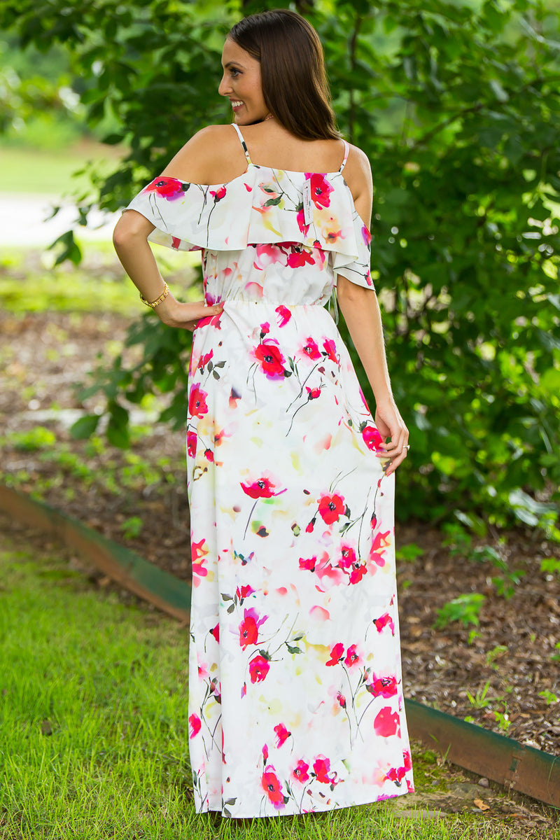 SALE-Everly-Island Beauty Maxi Dress-Red