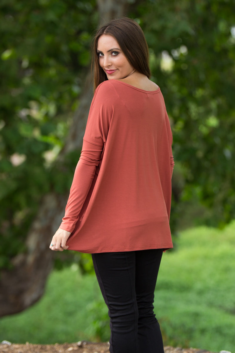 The Perfect Piko Top-Rust