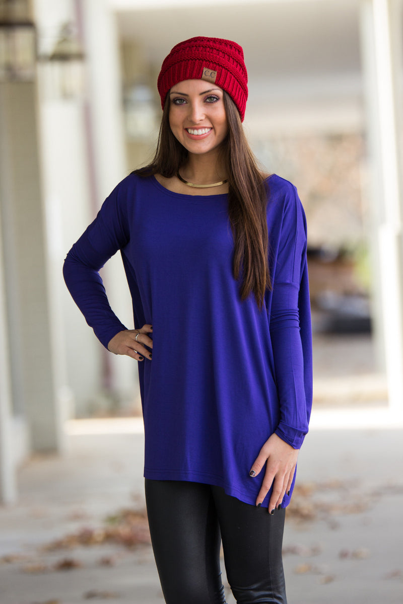 The Perfect Piko Top-Violet