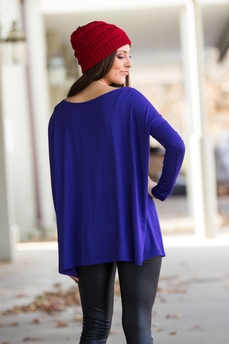 The Perfect Piko Top-Indigo