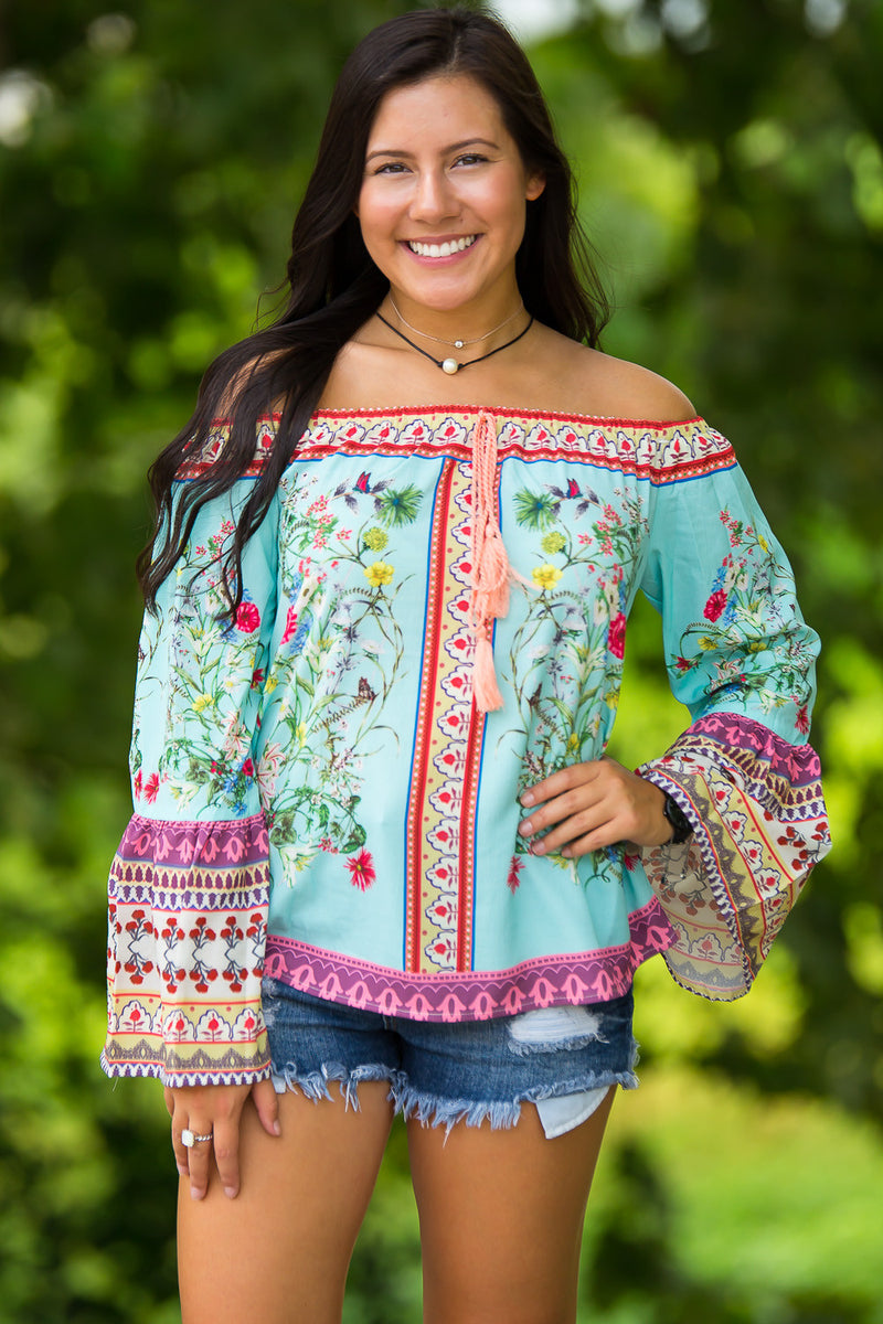 Mix Your Patterns Top-Mint