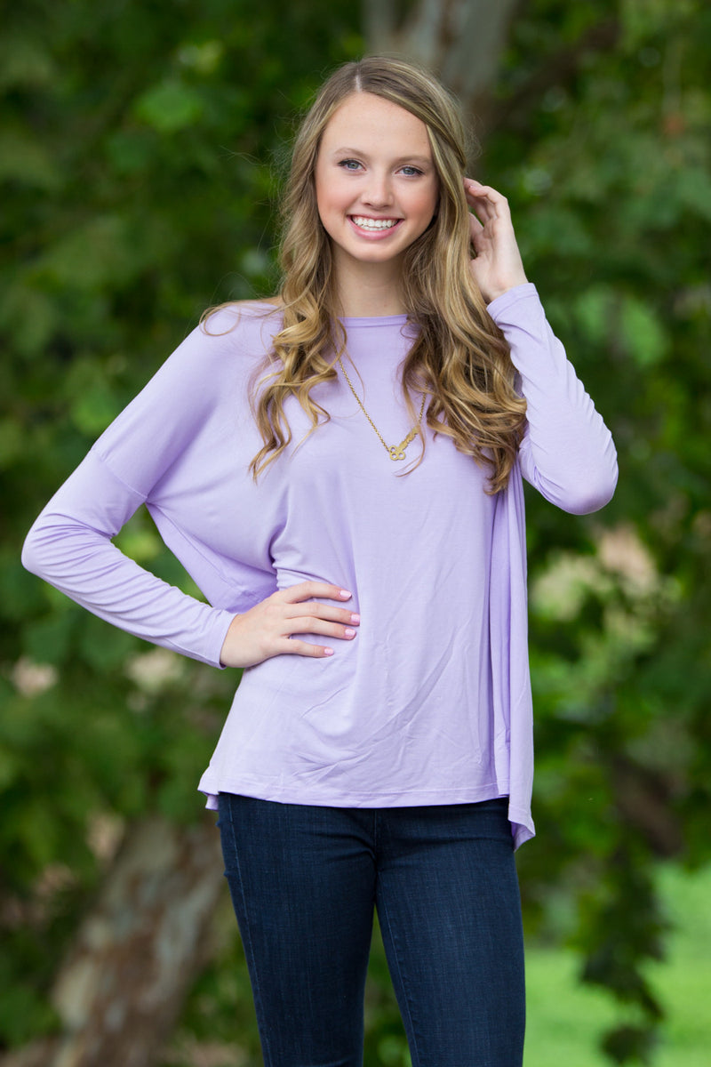 The Perfect Piko Top-Lilac