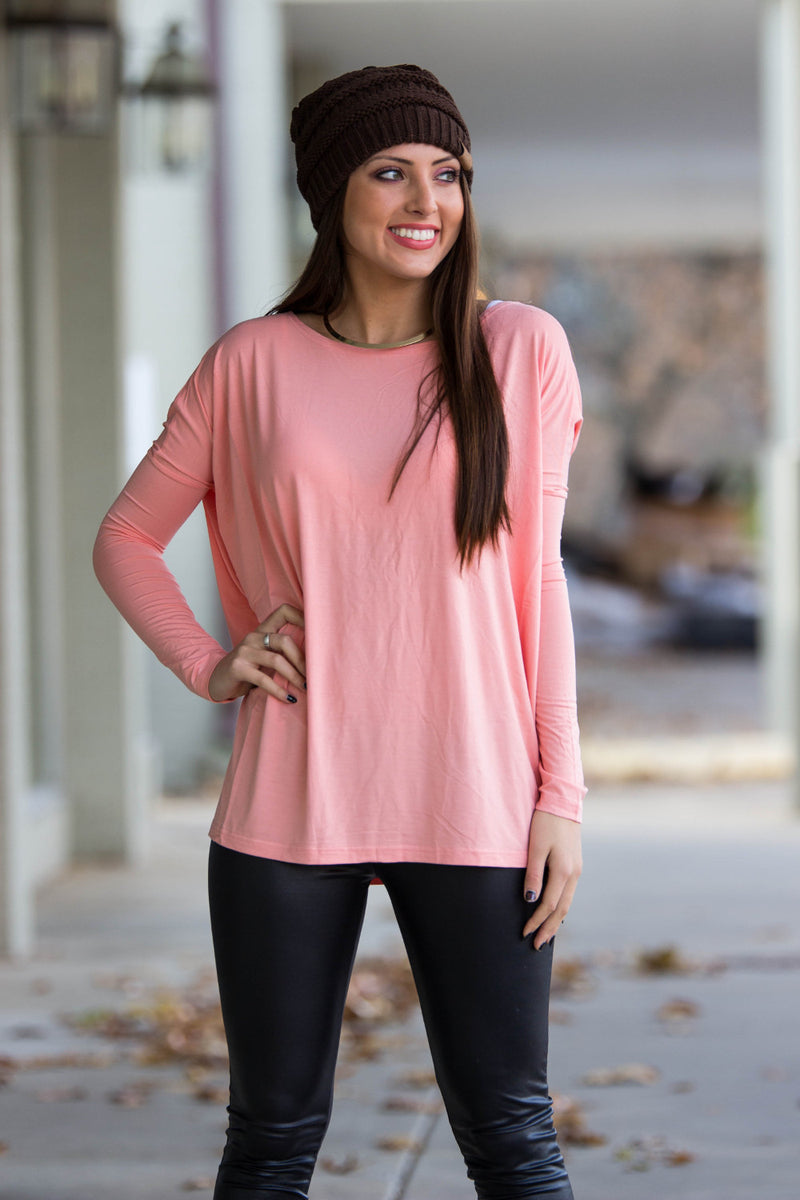 The Perfect Piko Top-Peach