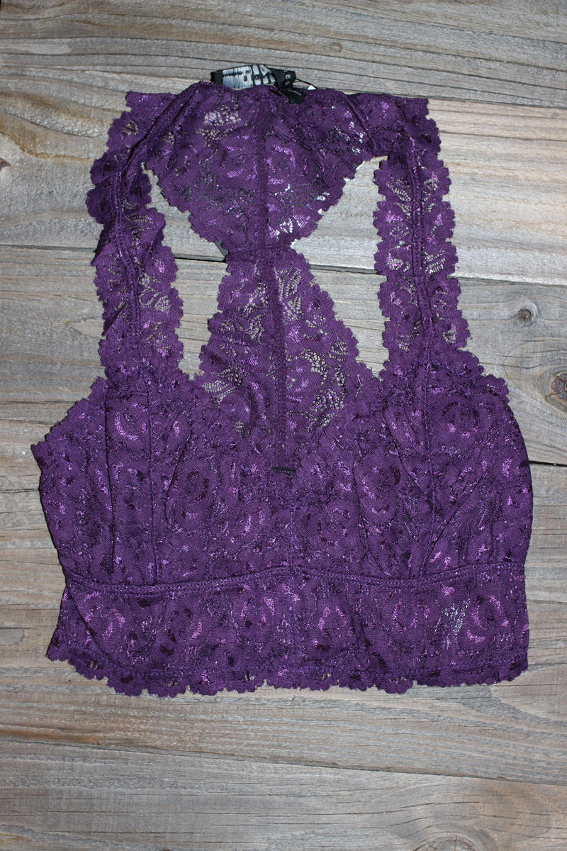 Signature 8-Lace Bralette-Purple