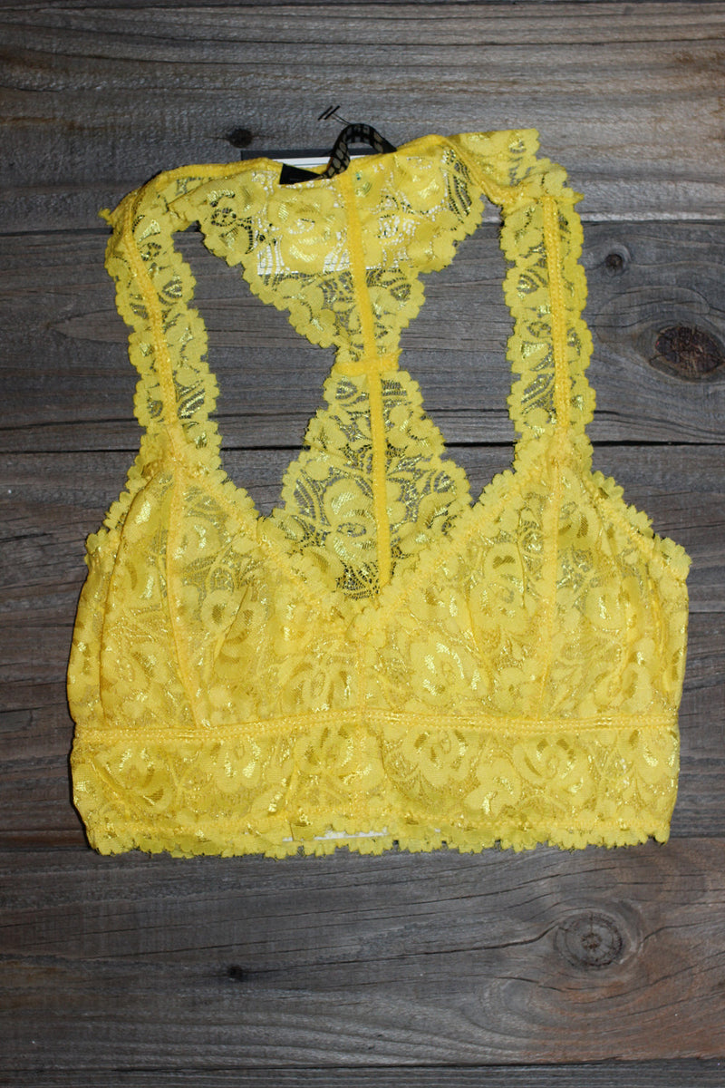 Signature 8-Lace Bralette-Lemon