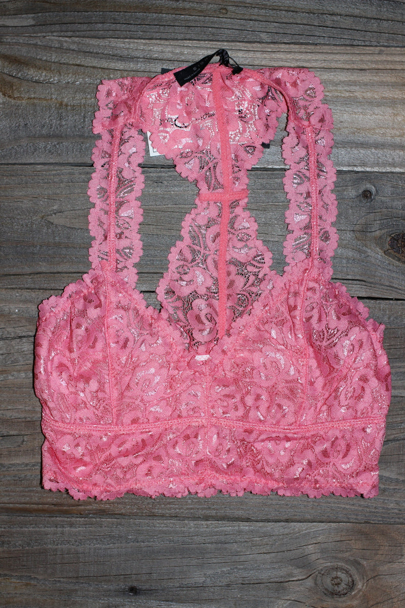 Signature 8-Lace Bralette-Salmon