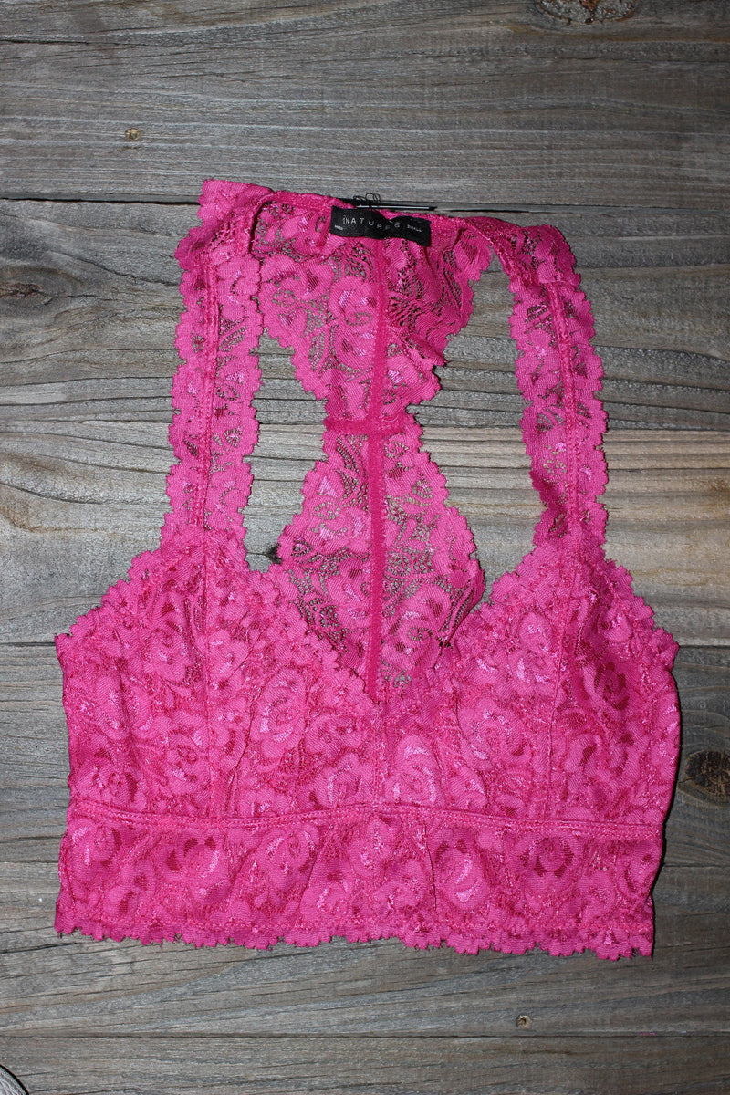 Signature 8-Lace Bralette-French Rose