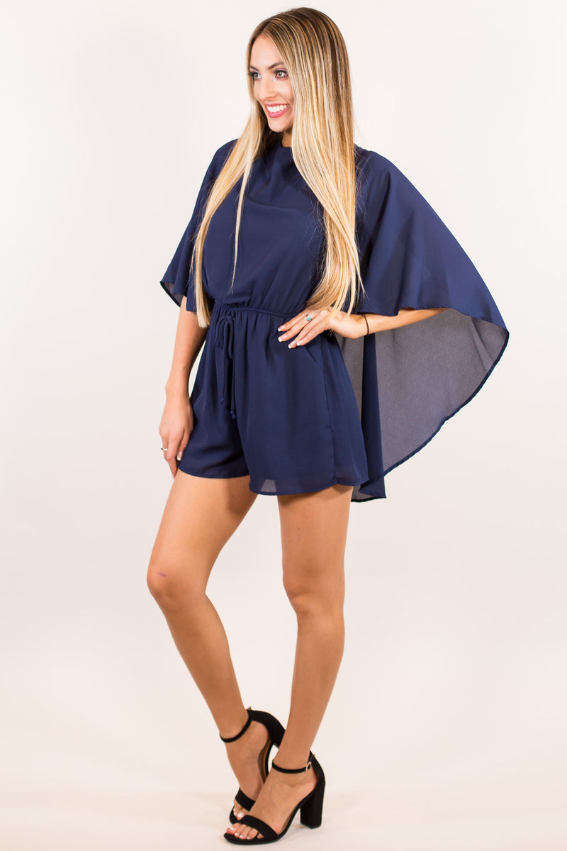 The It Factor Romper-Navy