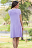 The Perfect Piko Short Sleeve Swing Dress-Lilac