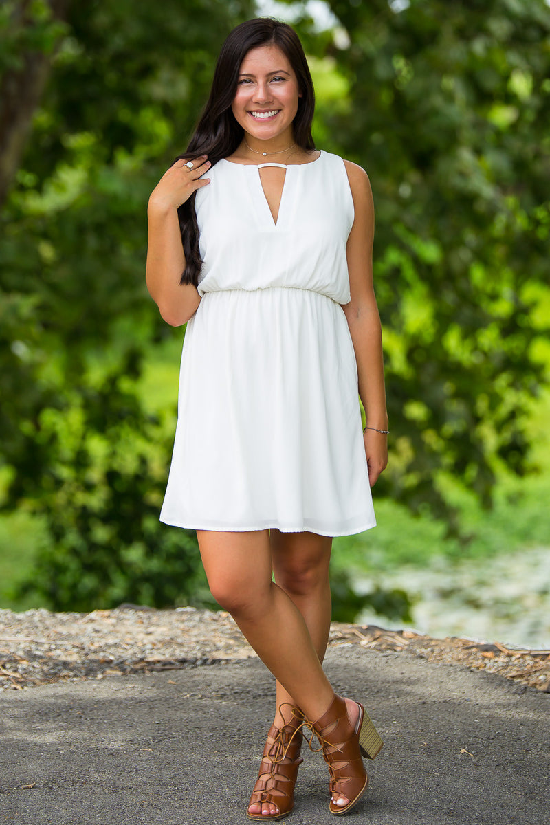 SALE-Everly-Crisp And Clean Dress-Ivory