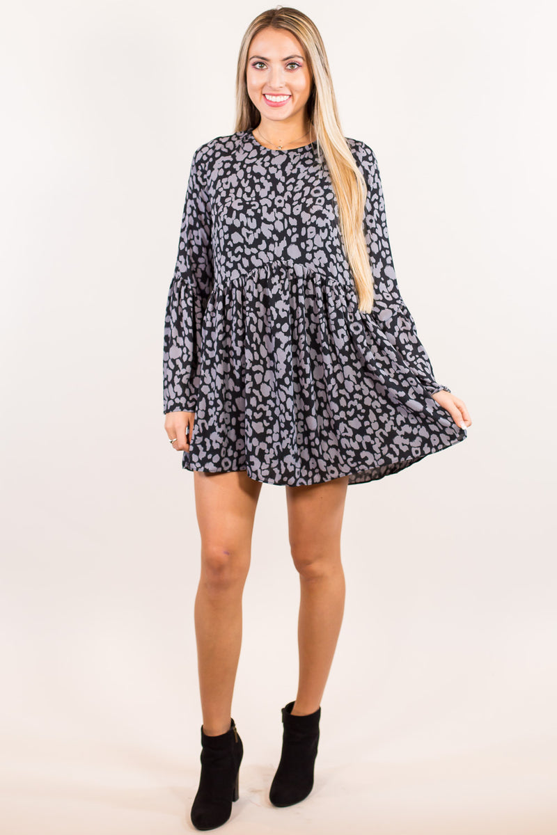 SALE - Buddy Love Hall Panther Dress-Black