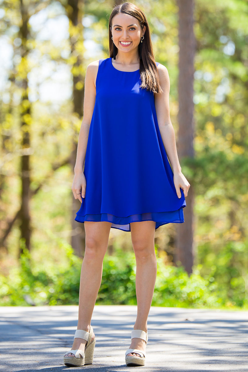 Everly-I'll Be With You Dress-Royal