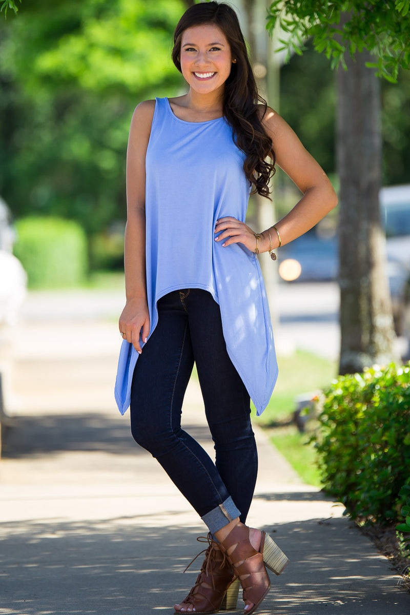 The Perfect Piko Asymmetrical Tank Top-Serenity