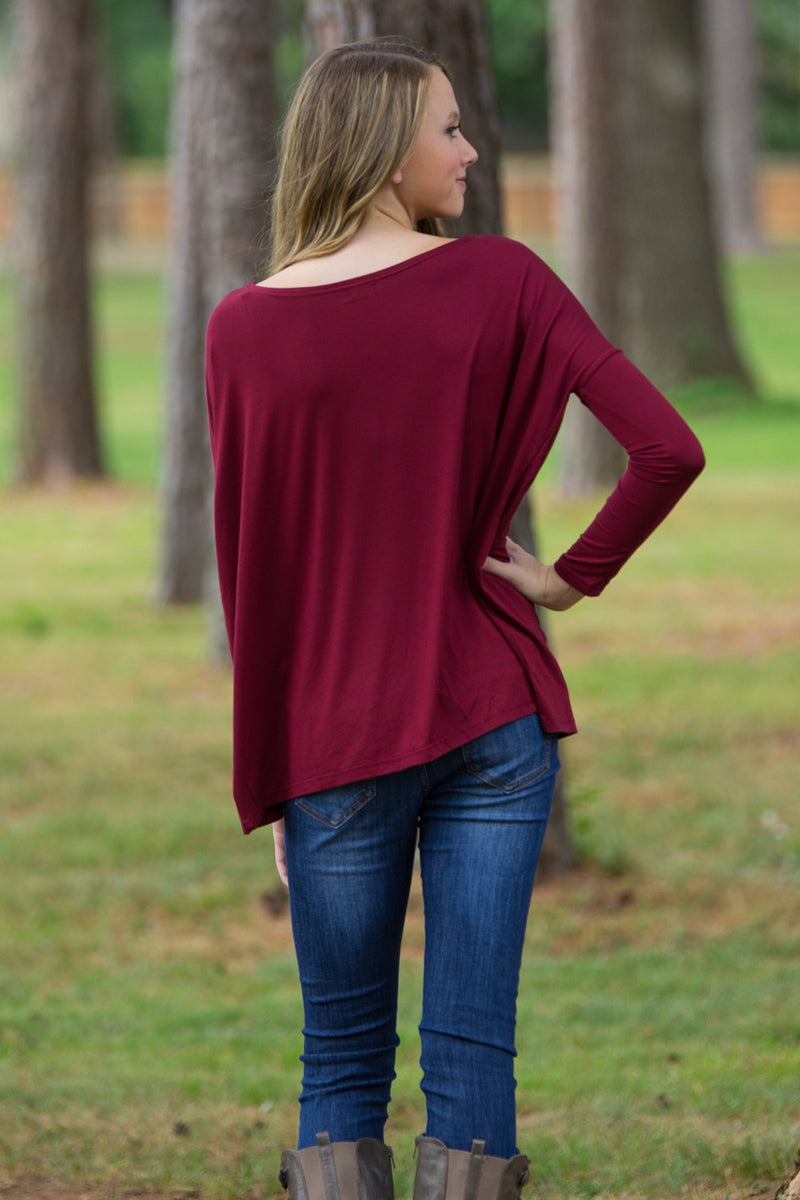 The Perfect Piko Top-Plum