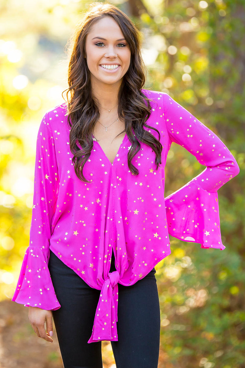 Buddy Love Constellation Top- Pink