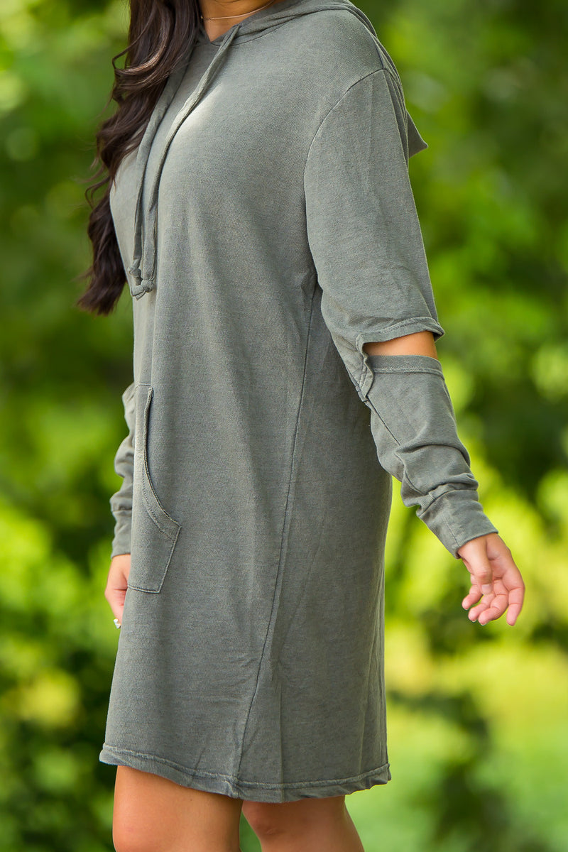 Casual Pay Look Dress-Sage