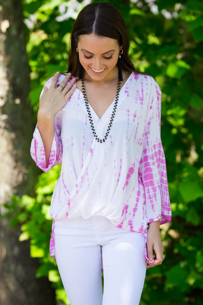 Crush On Tie Dye Top-Pink