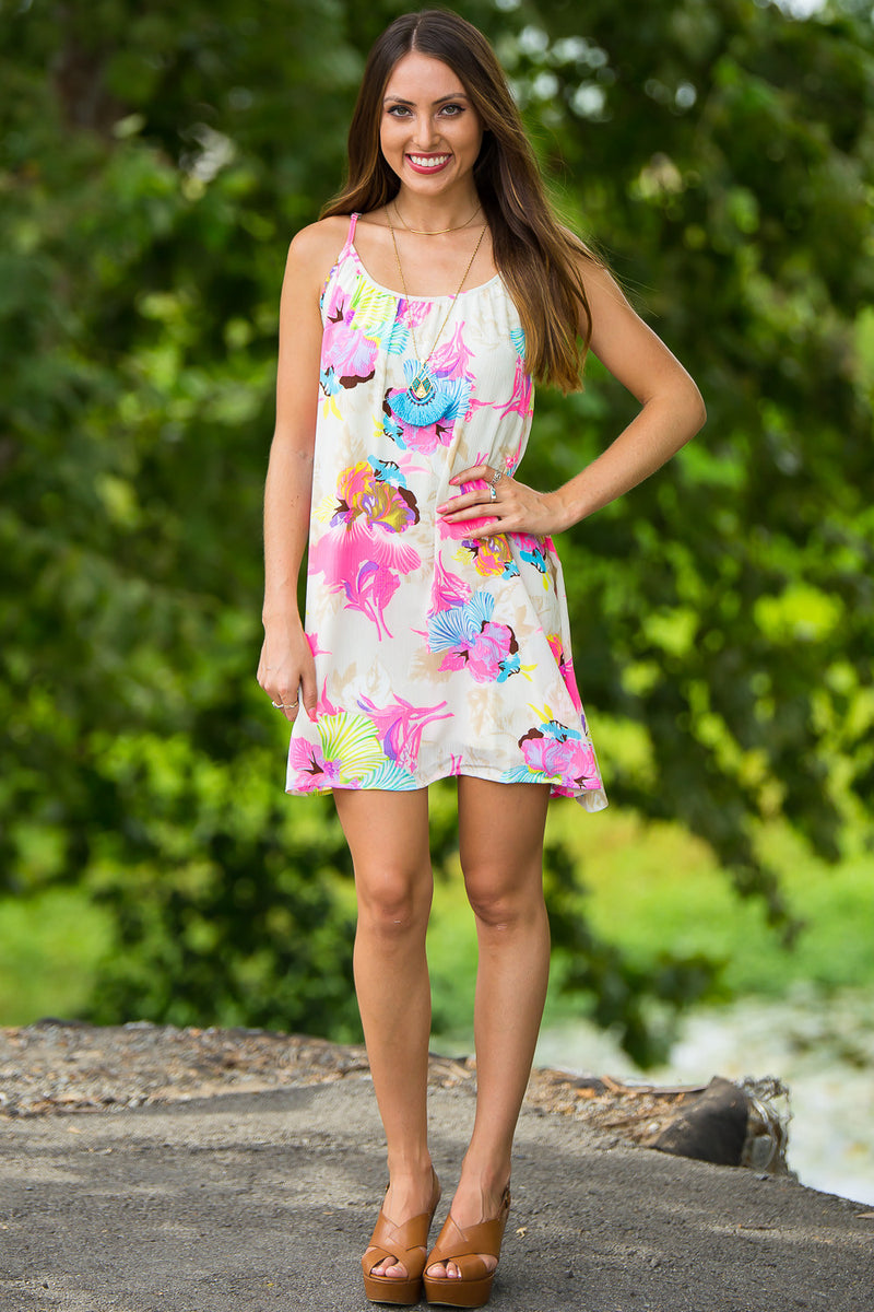 SALE-Smell The Roses-Macy Hummingbird Dress-Cream