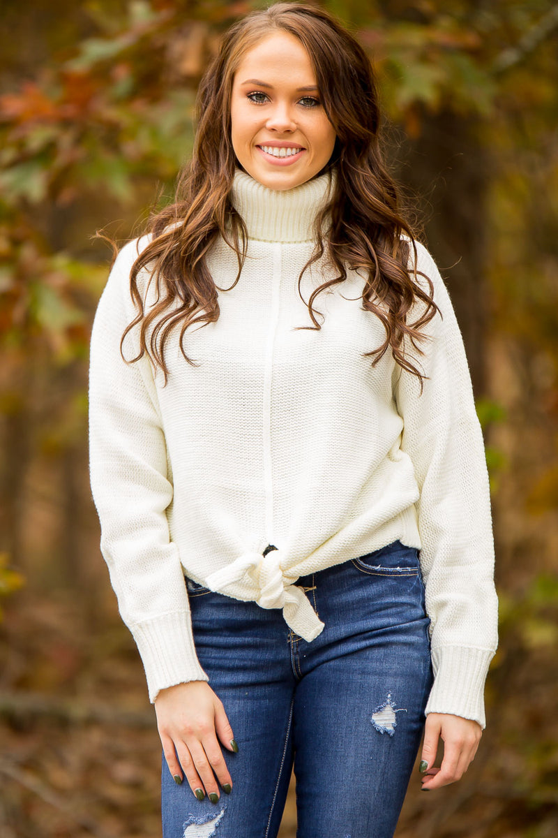 All Tied Down Sweater - Ivory