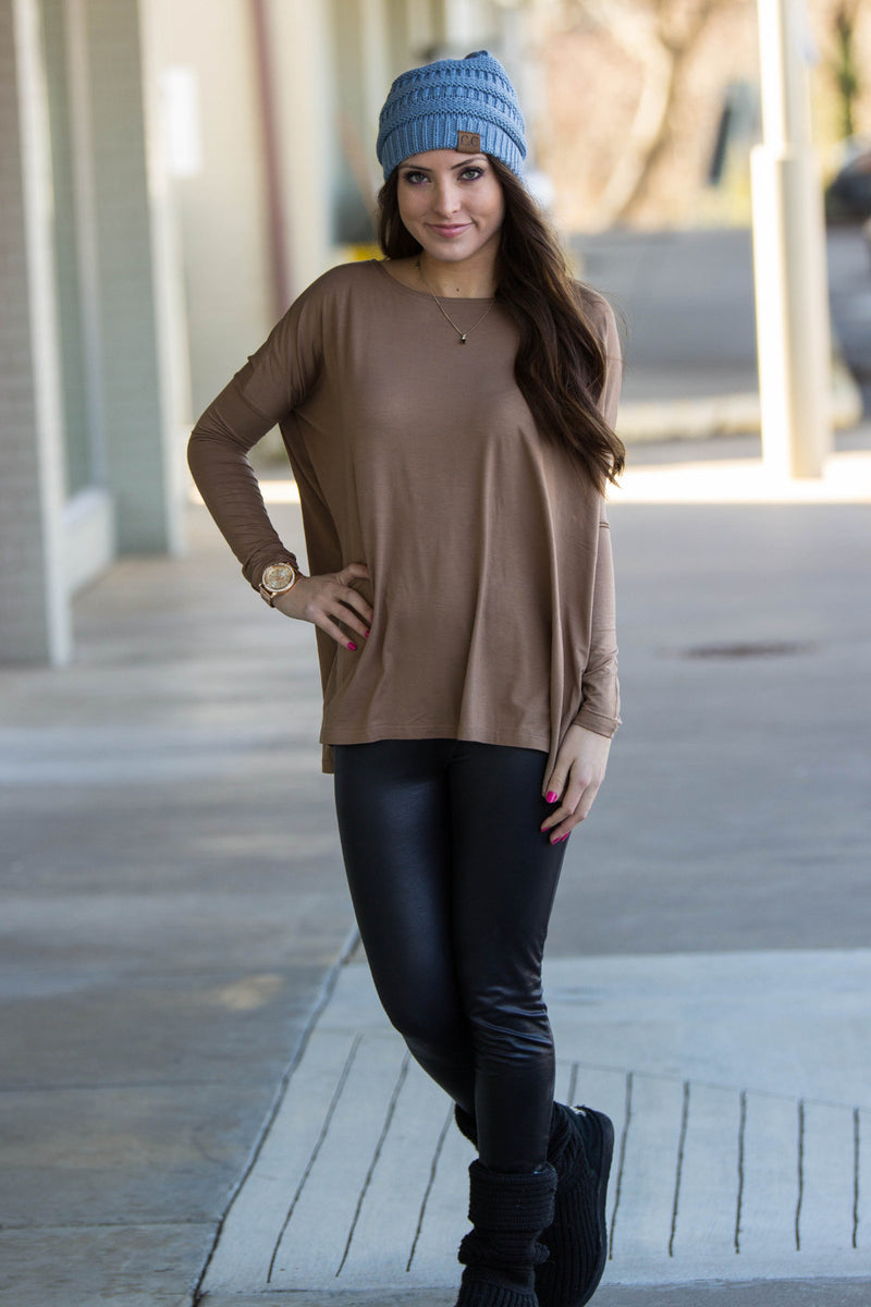 The Perfect Piko Top-Mocha