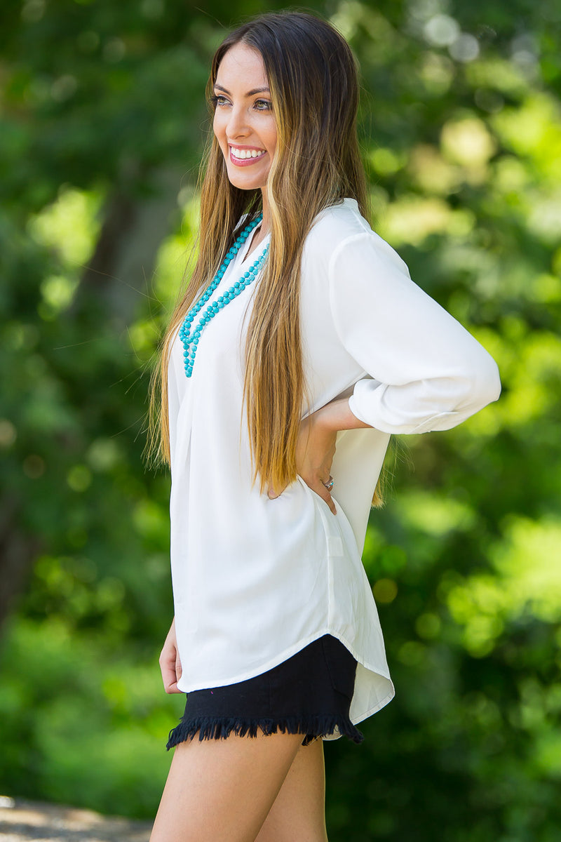 Roll With The Tide Top-Ivory